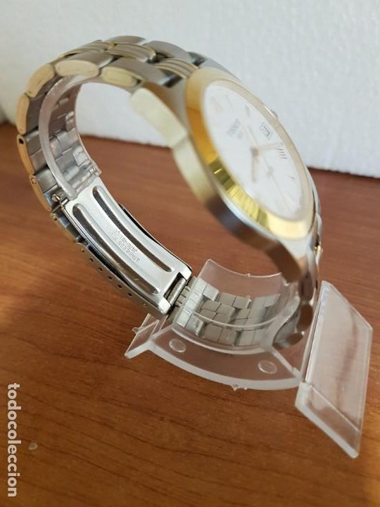 Relojes - Tissot: Reloj caballero TISSOT 1853 de acero bicolor con calendario, esfera blanca, correa original TISSOT - Foto 11 - 190998008