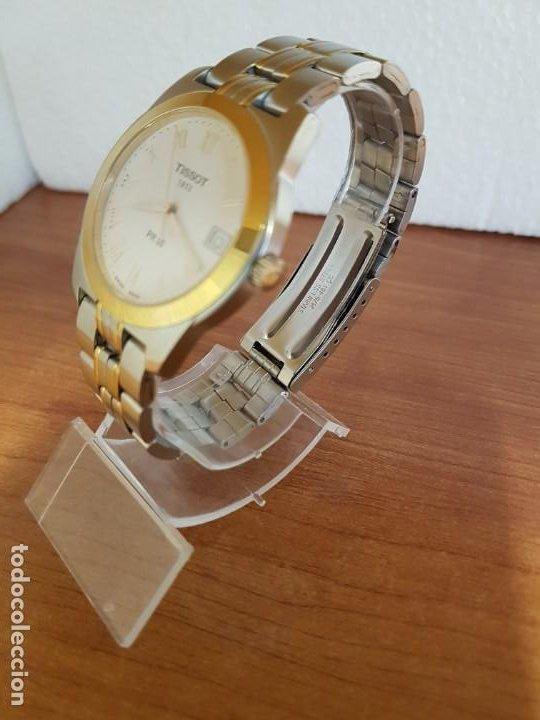 Relojes - Tissot: Reloj caballero TISSOT 1853 de acero bicolor con calendario, esfera blanca, correa original TISSOT - Foto 13 - 190998008