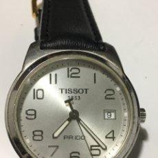 Relojes - Tissot: RELOJ TISSOT 1853 PR 100 EN ACERO Y CORREA DE PIEL. Lote 193838900