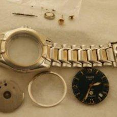 Relojes - Tissot: DESPIECE TISSOT PR 100 AUTOQUARTZ 39MM ACERO Y ZAFIRO CAJA + ARMYS + MAQUINA. Lote 209239322