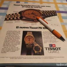 Relojes - Tissot: RELOJ TISSOT QUARTZ REVERSO VINO RIOJA CARTA DE PLATA ANUNCIO PUBLICIDAD REVISTA 1983. Lote 209387343