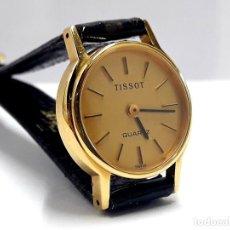 Relojes - Tissot: PRECIOSO RELOJ TISSOT DE SEÑORA AÑOS 80 EN PLAQUÉ DE ORO DE CUARZO Y NUEVO A ESTRENAR. Lote 209700738