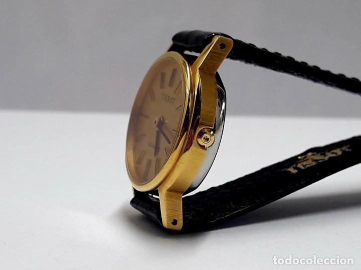 Relojes - Tissot: PRECIOSO RELOJ TISSOT DE SEÑORA AÑOS 80 EN PLAQUÉ DE ORO DE CUARZO Y NUEVO A ESTRENAR - Foto 2 - 209700738