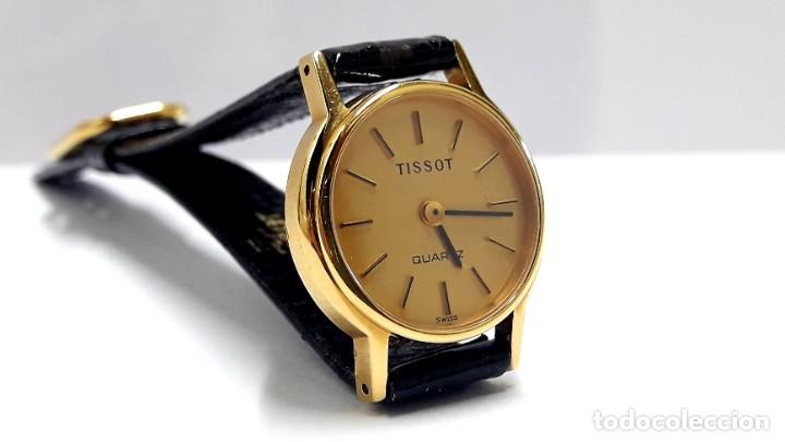 Relojes - Tissot: PRECIOSO RELOJ TISSOT DE SEÑORA AÑOS 80 EN PLAQUÉ DE ORO DE CUARZO Y NUEVO A ESTRENAR - Foto 5 - 209700738