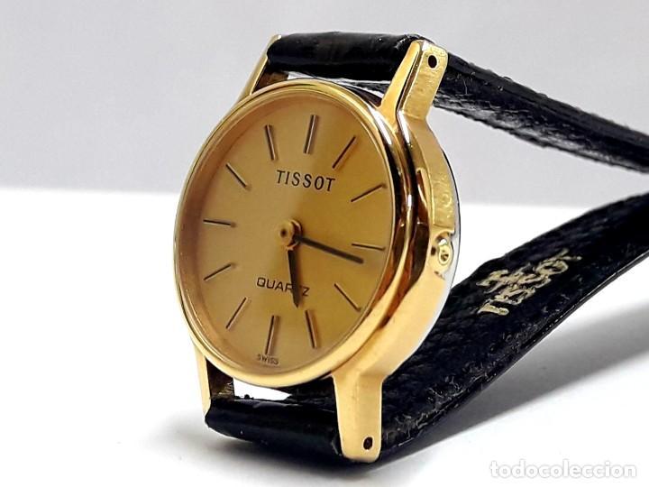 Relojes - Tissot: PRECIOSO RELOJ TISSOT DE SEÑORA AÑOS 80 EN PLAQUÉ DE ORO DE CUARZO Y NUEVO A ESTRENAR - Foto 6 - 209700738