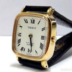Relojes - Tissot: RELOJ DE SEÑORA TISSOT AÑOS 80 EN PLAQUÉ ORO DE CUARZO Y NUEVO. Lote 210038555