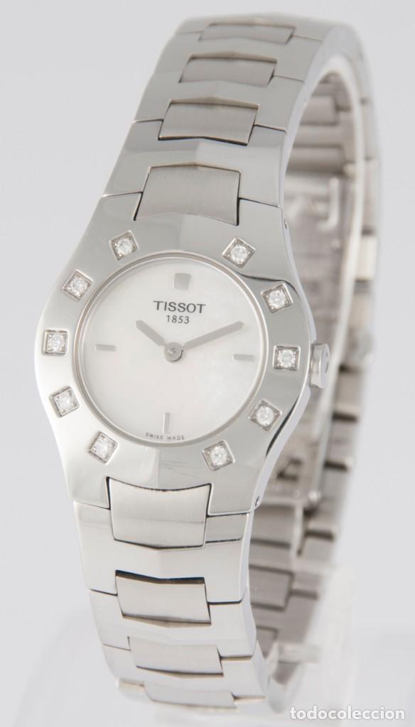 Relojes - Tissot: Tissot T-Round Steel and Diamonds MOP Dial Quartz 26mm T64.1.685.1 - Foto 2 - 217487356