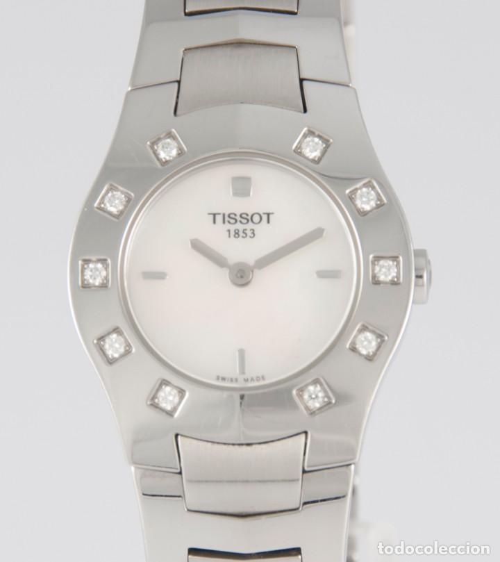 Relojes - Tissot: Tissot T-Round Steel and Diamonds MOP Dial Quartz 26mm T64.1.685.1 - Foto 3 - 217487356