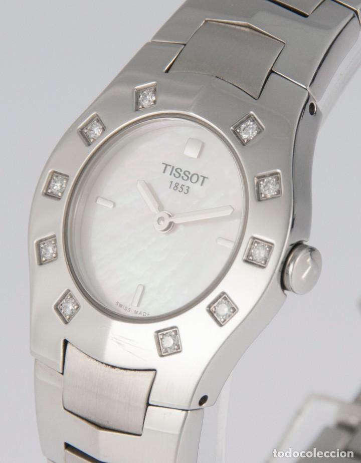 Relojes - Tissot: Tissot T-Round Steel and Diamonds MOP Dial Quartz 26mm T64.1.685.1 - Foto 4 - 217487356