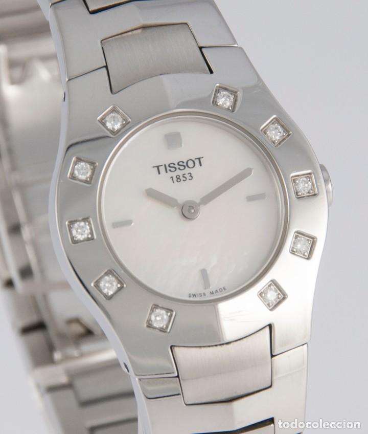 Relojes - Tissot: Tissot T-Round Steel and Diamonds MOP Dial Quartz 26mm T64.1.685.1 - Foto 6 - 217487356