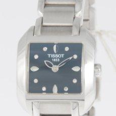 Relojes - Tissot: TISSOT T-WAVE LADIES BLACK DIAMOND DIAL T02.1.285.54 L750/850 NOS NEW OLD STOCK. Lote 218602407