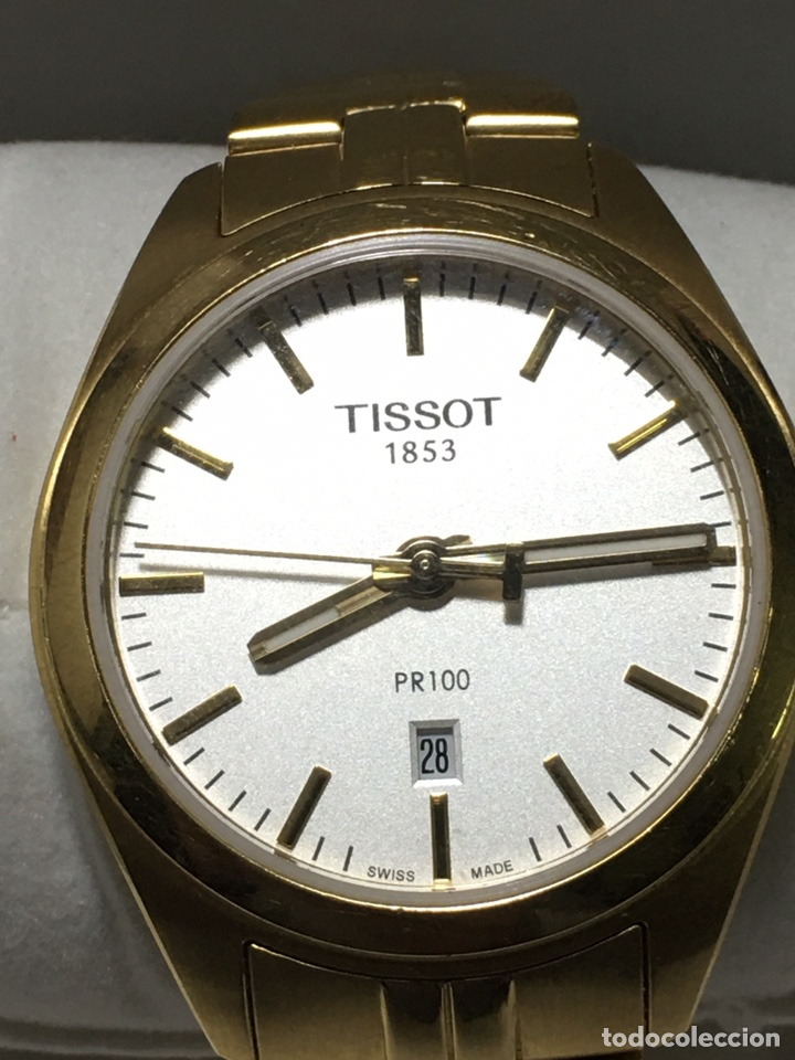 RELOJ TISSOT PR 100 QUARTZ GENT CHAPADO ORO NUEVO CRISTAL DE ZAFIRO QUARTZ (Relojes - Relojes Actuales - Tissot)