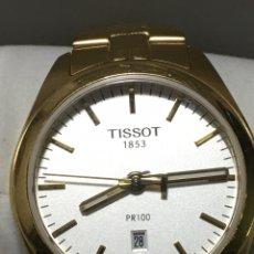 Relojes - Tissot: RELOJ TISSOT PR 100 QUARTZ GENT CHAPADO ORO NUEVO CRISTAL DE ZAFIRO QUARTZ. Lote 222696407