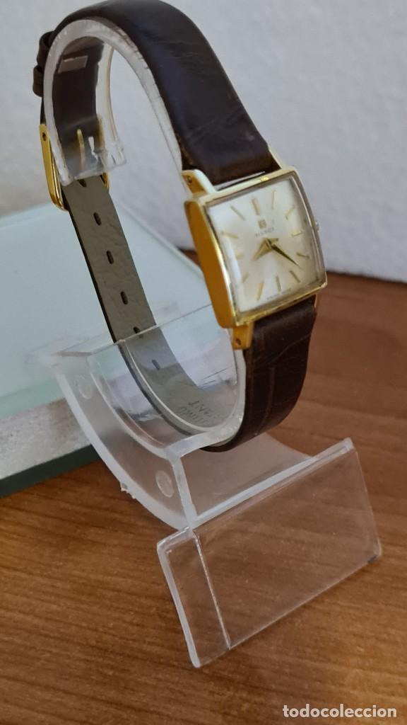 Relojes - Tissot: Reloj señora TISSOT de cuerda manual chapado de oro 20 micras, esfera blanca, correa de cuero marrón - Foto 5 - 243353510