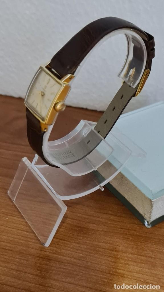 Relojes - Tissot: Reloj señora TISSOT de cuerda manual chapado de oro 20 micras, esfera blanca, correa de cuero marrón - Foto 6 - 243353510