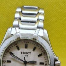 Relojes - Tissot: RELOJ CABALLERO (VINTAGE) TISSOT DE CUARZO SUIZO ACERO, CALENDARIO CUATRO, CORREA DE ACERO ORIGINAL. Lote 248448225