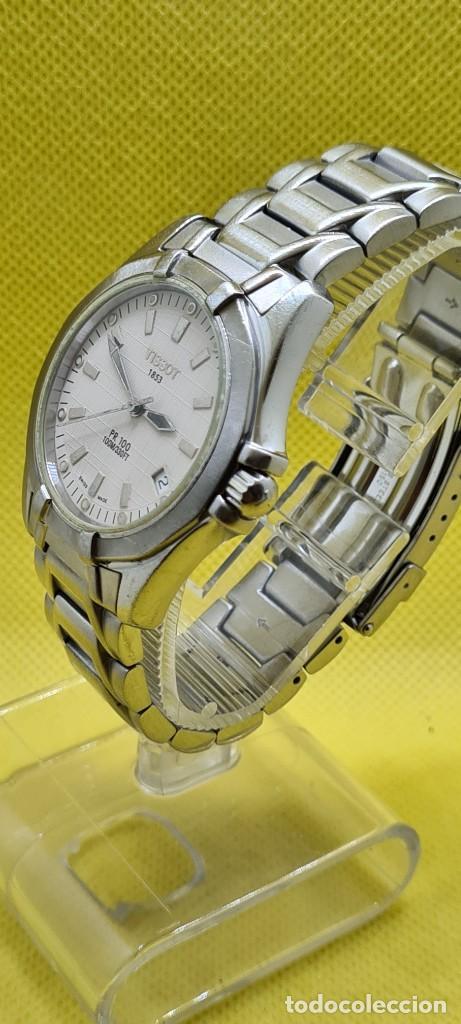 Relojes - Tissot: Reloj caballero (Vintage) Tissot de cuarzo Suizo acero, calendario cuatro, correa de acero original - Foto 4 - 248448225