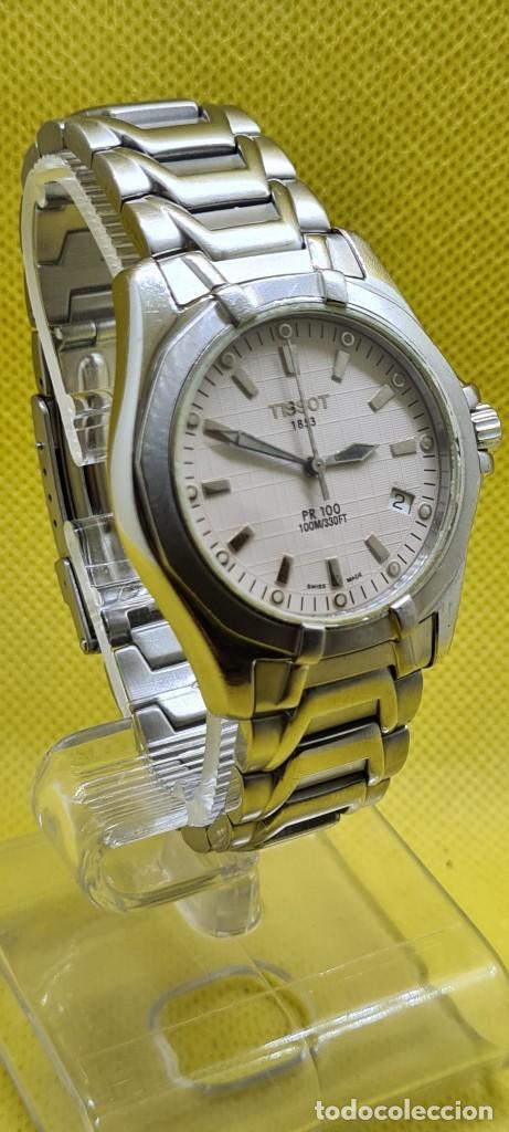 Relojes - Tissot: Reloj caballero (Vintage) Tissot de cuarzo Suizo acero, calendario cuatro, correa de acero original - Foto 5 - 248448225