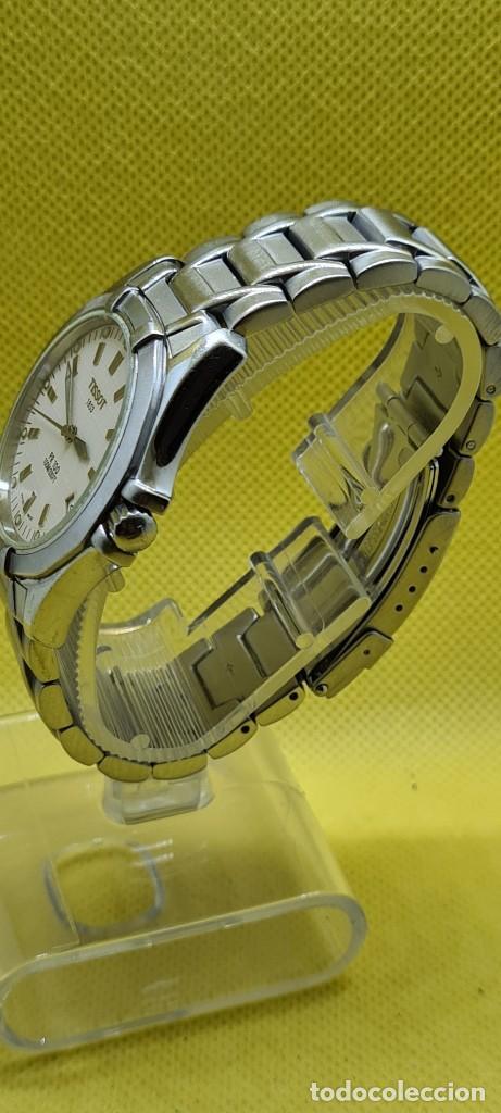Relojes - Tissot: Reloj caballero (Vintage) Tissot de cuarzo Suizo acero, calendario cuatro, correa de acero original - Foto 6 - 248448225