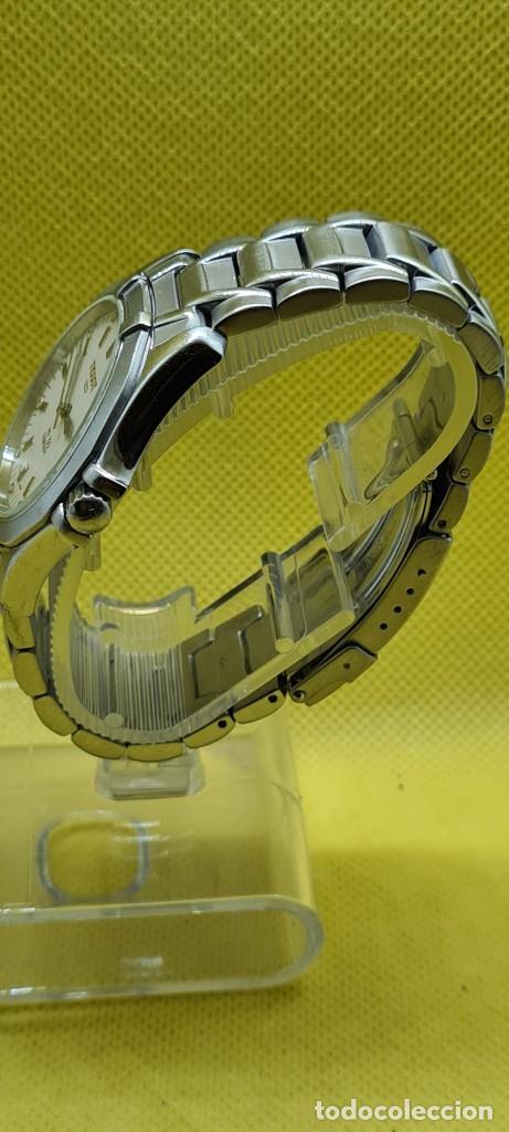 Relojes - Tissot: Reloj caballero (Vintage) Tissot de cuarzo Suizo acero, calendario cuatro, correa de acero original - Foto 8 - 248448225