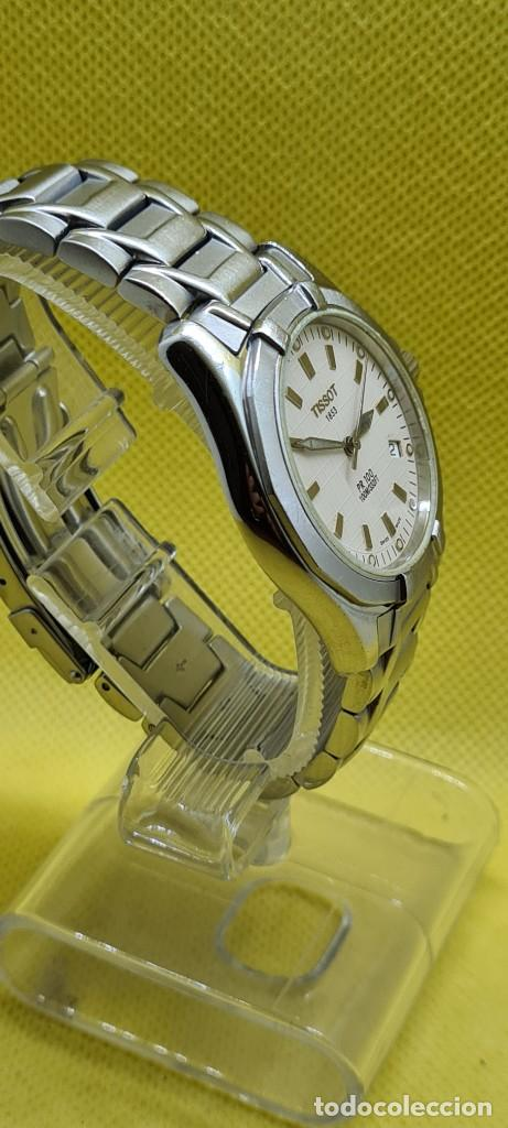 Relojes - Tissot: Reloj caballero (Vintage) Tissot de cuarzo Suizo acero, calendario cuatro, correa de acero original - Foto 11 - 248448225