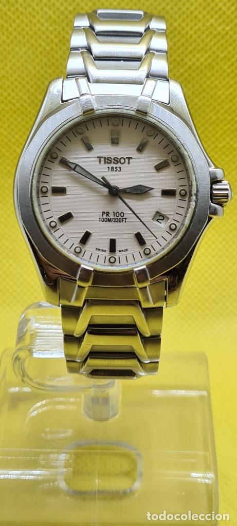 Relojes - Tissot: Reloj caballero (Vintage) Tissot de cuarzo Suizo acero, calendario cuatro, correa de acero original - Foto 12 - 248448225