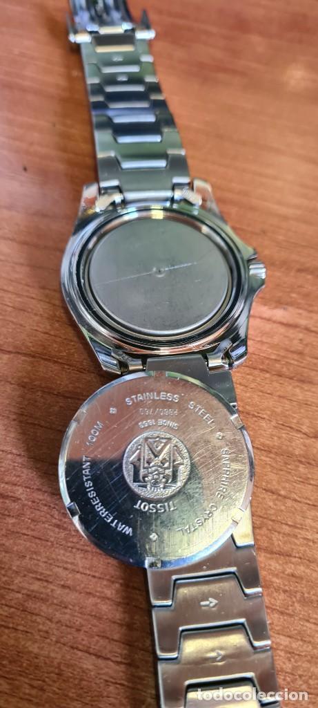 Relojes - Tissot: Reloj caballero (Vintage) Tissot de cuarzo Suizo acero, calendario cuatro, correa de acero original - Foto 15 - 248448225
