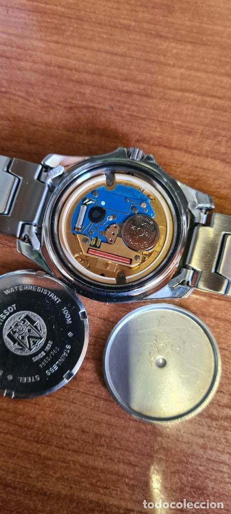 Relojes - Tissot: Reloj caballero (Vintage) Tissot de cuarzo Suizo acero, calendario cuatro, correa de acero original - Foto 17 - 248448225