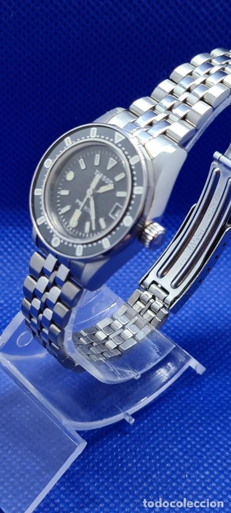 Relojes - Tissot: Reloj señora Tissot PR100 cuarzo acero, bisel giratorio, esfera negra, correa acero original Tissot. - Foto 4 - 248684570