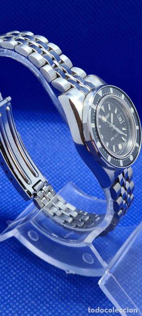 Relojes - Tissot: Reloj señora Tissot PR100 cuarzo acero, bisel giratorio, esfera negra, correa acero original Tissot. - Foto 5 - 248684570