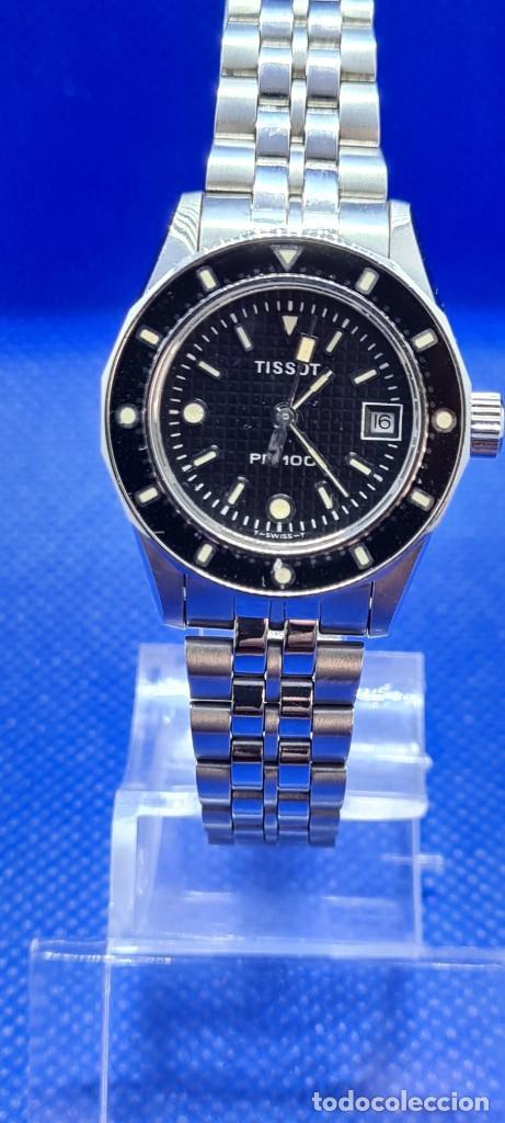 Relojes - Tissot: Reloj señora Tissot PR100 cuarzo acero, bisel giratorio, esfera negra, correa acero original Tissot. - Foto 7 - 248684570