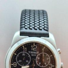 Relojes - Tissot: RELOJ CABALLERO (VINTAGE) TISSOT DE CUARZO SUIZO ACERO, CALENDARIO CUATRO, CORREA DE GOMA NEGRA NUEV. Lote 253889025
