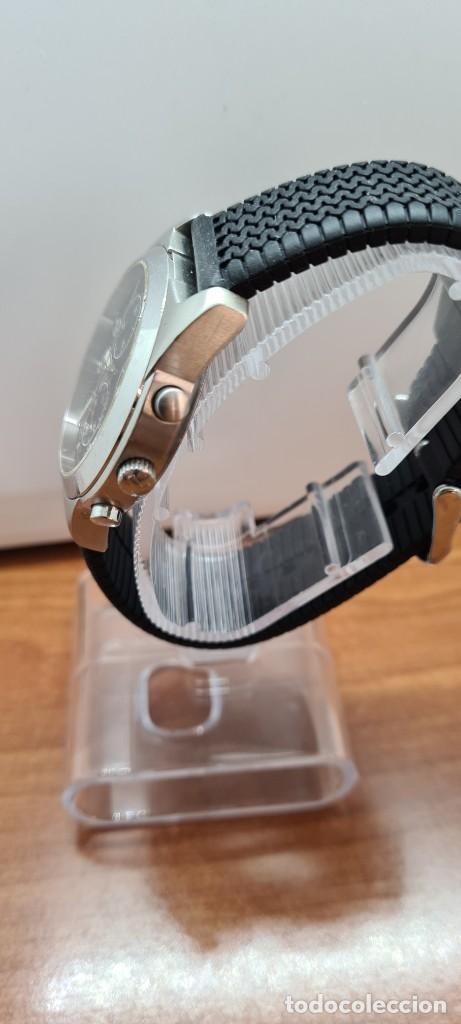 Relojes - Tissot: Reloj caballero (Vintage) Tissot de cuarzo Suizo acero, calendario cuatro, correa de goma negra nuev - Foto 6 - 253889025