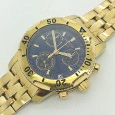 Relojes - Tissot: RELOJ DE CUARZO TISSOT DORADO 200M CHRONO T362/462 DE SEGUNDA MANO. Lote 263693080