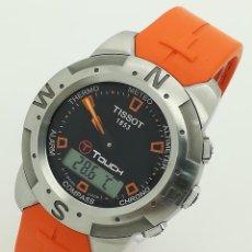 Relojes - Tissot: RELOJ TISSOT T-TOUCH Z252/352 MULTI FUNCIÓN CHRONO/TEMP/ALTIMETRO/ALARMA ANA-DIGI BANDA NARANJA DE S. Lote 268137739