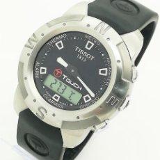 Relojes - Tissot: RELOJ TISSOT T-TOUCH Z252/352 MULTI FUNCIÓN CHRONO/TEMP/ALTIMETRO/ALARMA ANA-DIGI NEGRO DE SEGUNDA M. Lote 268257314