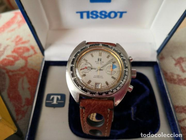 Relojes - Tissot: Tissot Seastar Navigator chronograph `70 watch Vintage Year 1970 RELOJ + CAJA - Foto 2 - 269758943