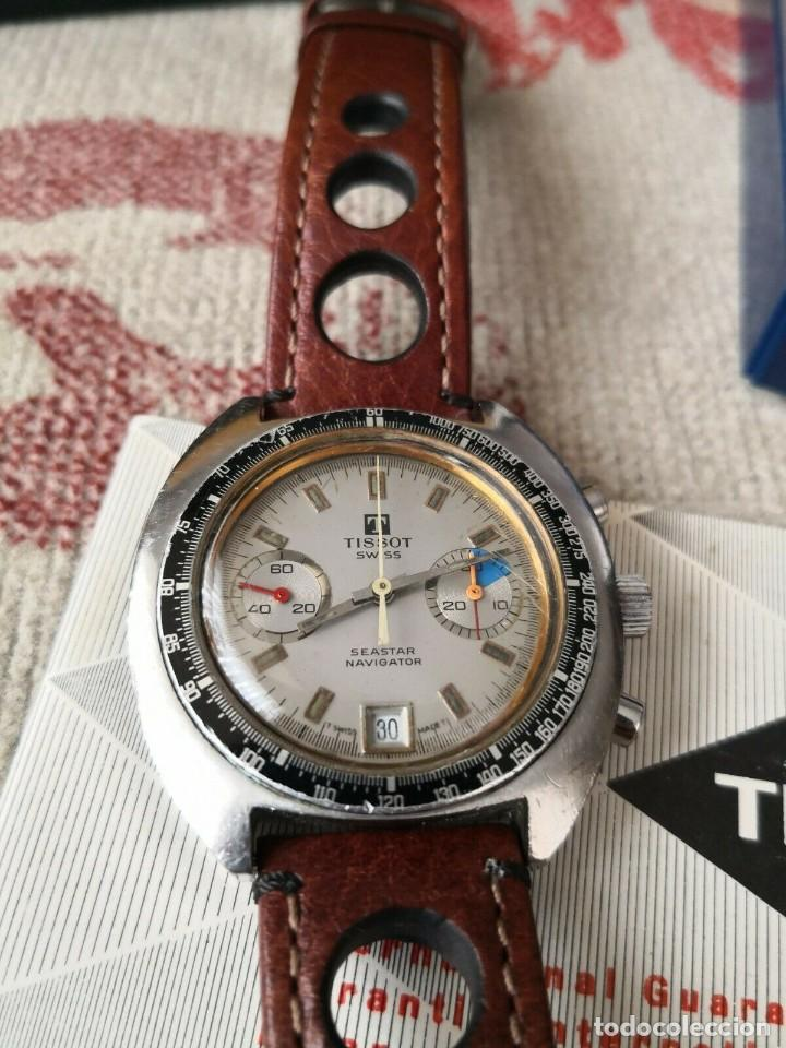 Relojes - Tissot: Tissot Seastar Navigator chronograph `70 watch Vintage Year 1970 RELOJ + CAJA - Foto 3 - 269758943