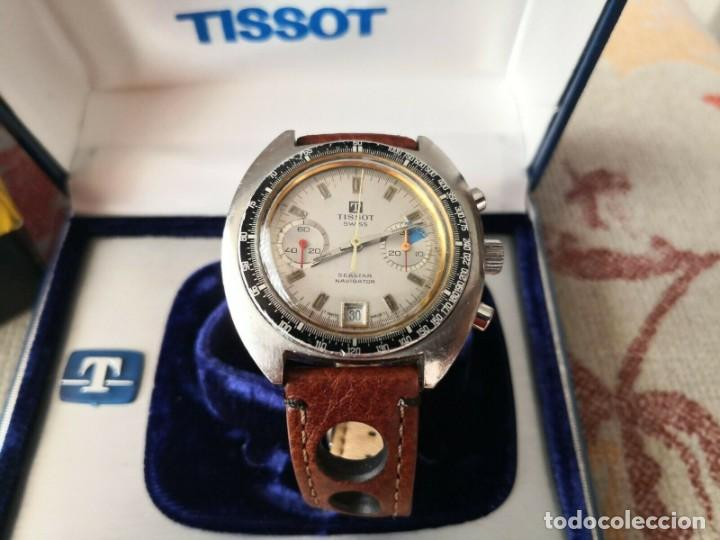 Relojes - Tissot: Tissot Seastar Navigator chronograph `70 watch Vintage Year 1970 RELOJ + CAJA - Foto 4 - 269758943