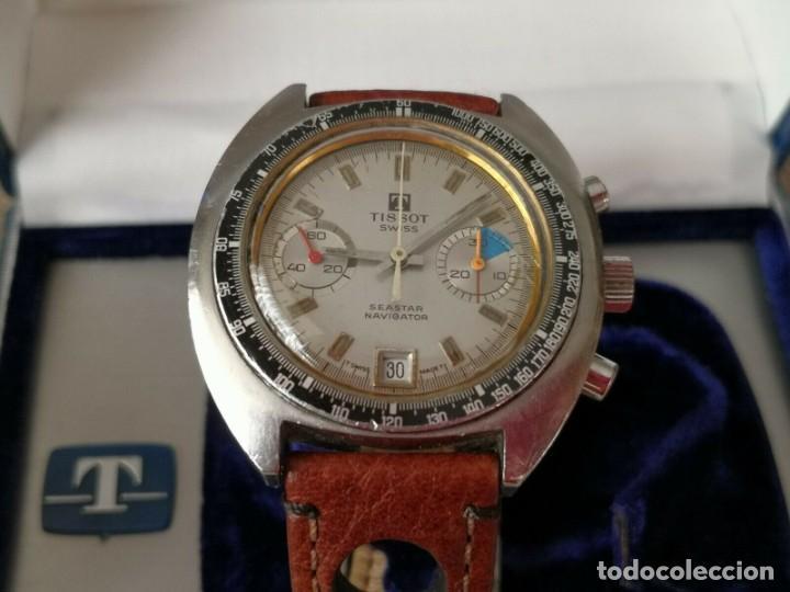 Relojes - Tissot: Tissot Seastar Navigator chronograph `70 watch Vintage Year 1970 RELOJ + CAJA - Foto 6 - 269758943