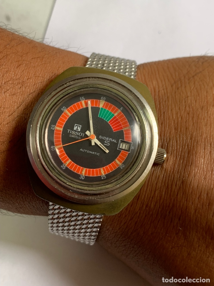 RELOJ COLECCIÓN VINTAGE MILITAR TISSOT SIDERAL AUTOMÁTICO DATE SWISS MADE (Relojes - Relojes Actuales - Tissot)
