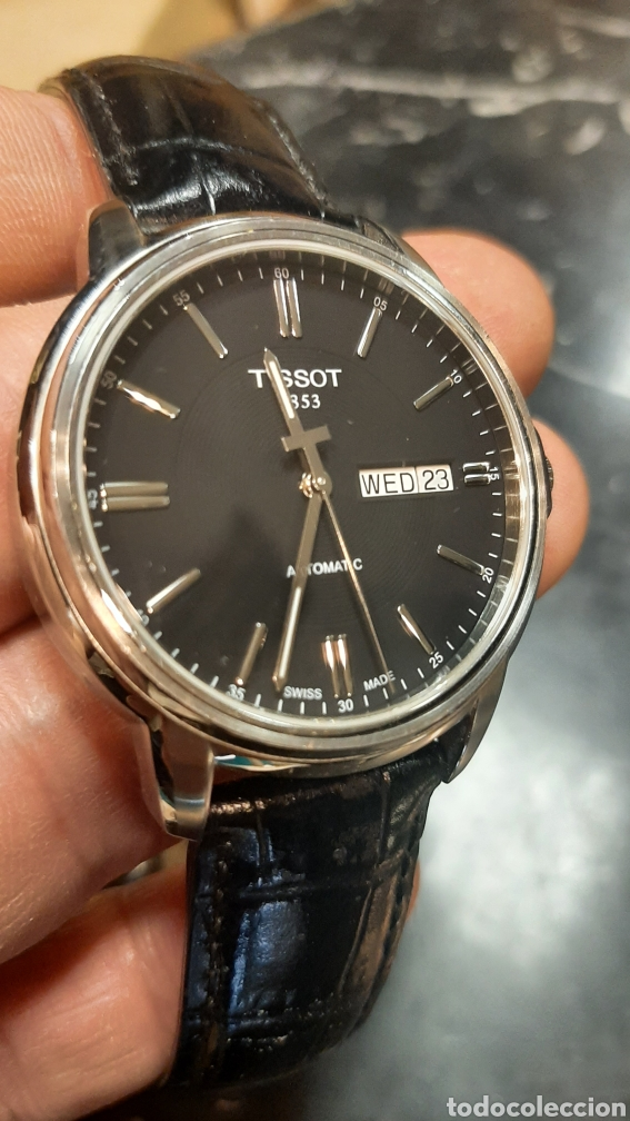 Relojes - Tissot: RELOJ TISSOT 1853 AUTOMATICO CON FECHA Y DIA EN INGLES CORREA CUERO NEGRO PERFECTO ESTADO - Foto 2 - 271040858