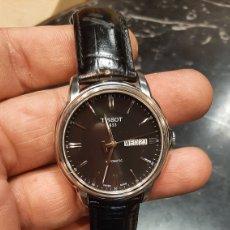 Relojes - Tissot: RELOJ TISSOT 1853 AUTOMATICO CON FECHA Y DIA EN INGLES CORREA CUERO NEGRO PERFECTO ESTADO. Lote 271040858
