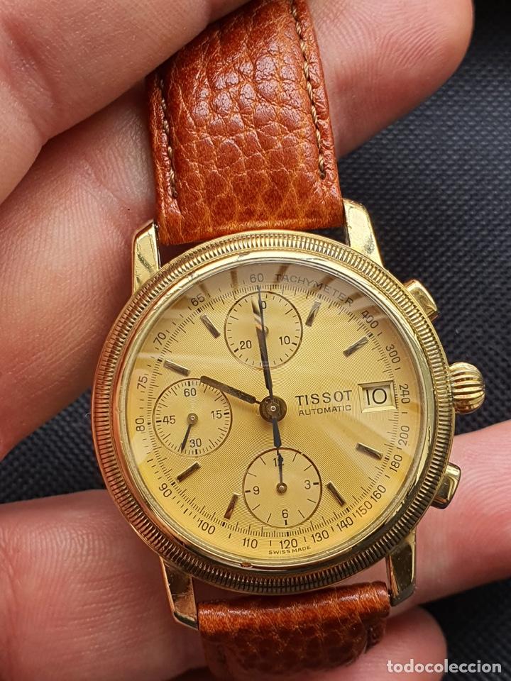 Relojes - Tissot: Reloj Tissot Chronograph oro sólido 18k, funciona perfectamente - Foto 3 - 274406543