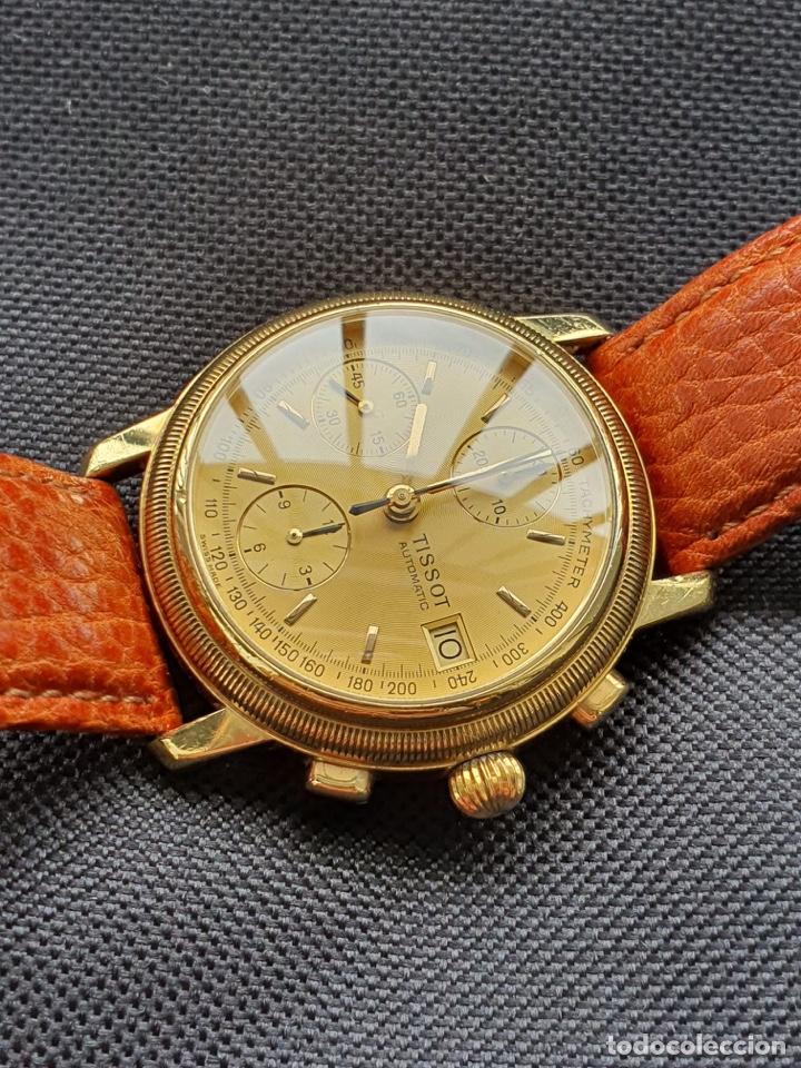 Relojes - Tissot: Reloj Tissot Chronograph oro sólido 18k, funciona perfectamente - Foto 4 - 274406543