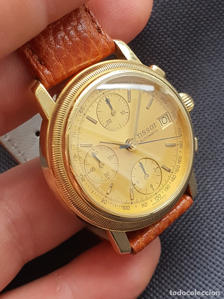 Relojes - Tissot: Reloj Tissot Chronograph oro sólido 18k, funciona perfectamente - Foto 6 - 274406543