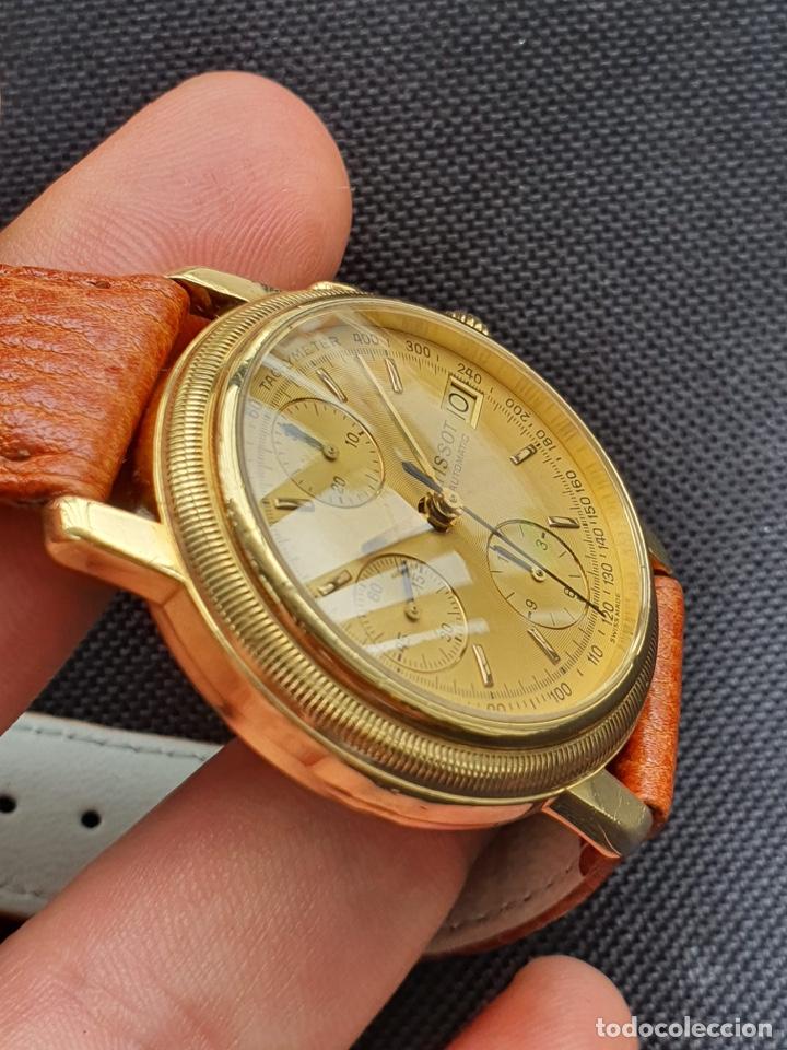 Relojes - Tissot: Reloj Tissot Chronograph oro sólido 18k, funciona perfectamente - Foto 7 - 274406543
