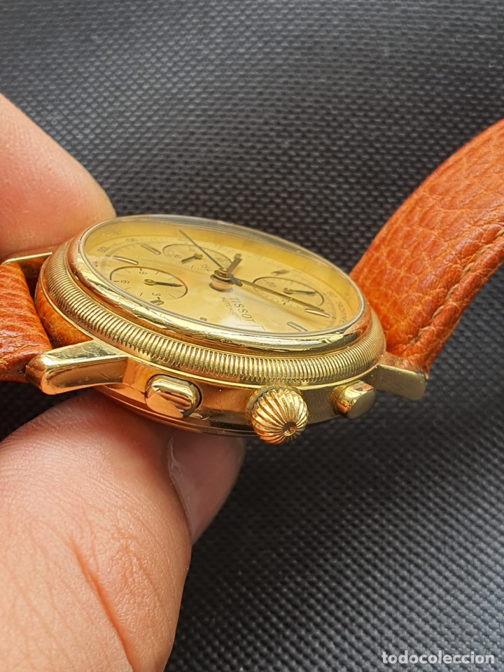 Relojes - Tissot: Reloj Tissot Chronograph oro sólido 18k, funciona perfectamente - Foto 8 - 274406543