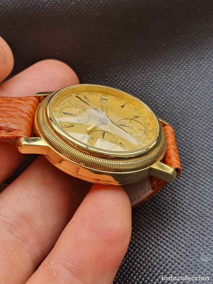 Relojes - Tissot: Reloj Tissot Chronograph oro sólido 18k, funciona perfectamente - Foto 9 - 274406543