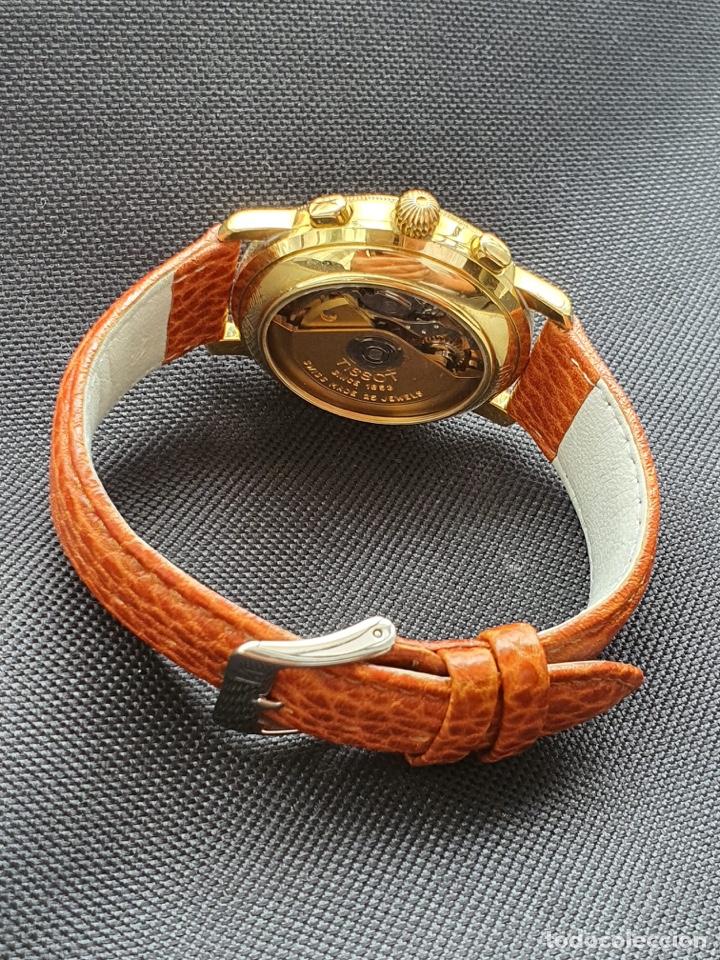 Relojes - Tissot: Reloj Tissot Chronograph oro sólido 18k, funciona perfectamente - Foto 11 - 274406543